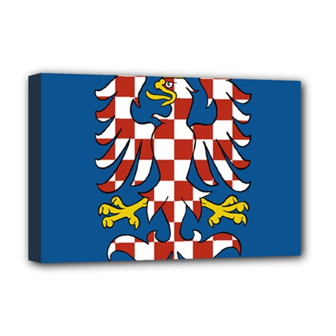 Flag of Moravia Deluxe Canvas 18  x 12
