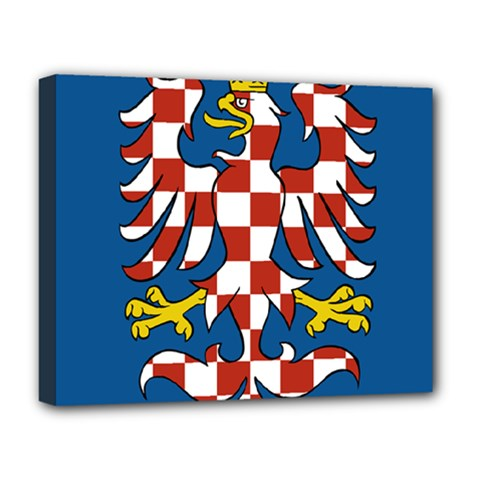 Flag of Moravia Deluxe Canvas 20  x 16
