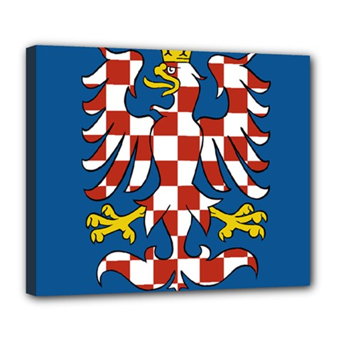 Flag of Moravia Deluxe Canvas 24  x 20