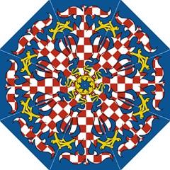 Flag of Moravia Golf Umbrellas