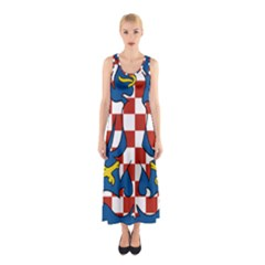 Flag of Moravia Sleeveless Maxi Dress