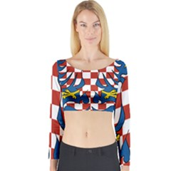 Flag of Moravia Long Sleeve Crop Top