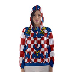 Flag of Moravia Hooded Wind Breaker (Women)