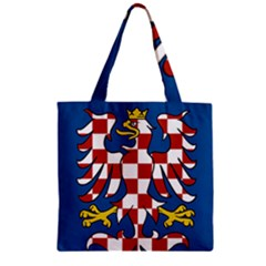 Flag of Moravia Zipper Grocery Tote Bag