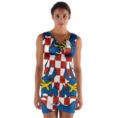 Flag of Moravia Wrap Front Bodycon Dress