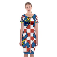 Flag of Moravia Classic Short Sleeve Midi Dress