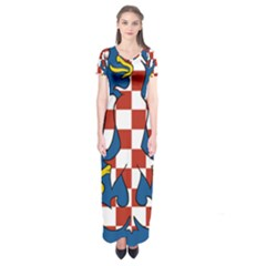 Flag of Moravia Short Sleeve Maxi Dress
