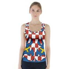 Flag of Moravia Racer Back Sports Top