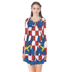 Flag of Moravia Flare Dress
