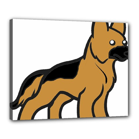 German Shepherd Cartoon Canvas 20  x 16