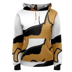 German Shepherd Cartoon Women s Pullover Hoodie