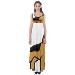 German Shepherd Cartoon Empire Waist Maxi Dress