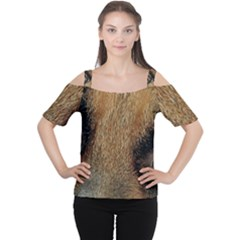 German Shepherd Eyes Women s Cutout Shoulder Tee