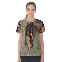 German Shepherd In Motion Women s Cotton Tee