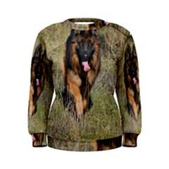 German Shepherd In Motion Women s Sweatshirt