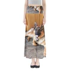 German Shepherd Laying 2 Maxi Skirts