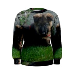 German Shepherd Puppy Laying 2 Women s Sweatshirt