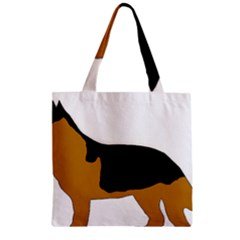 German Shepherd Silo Zipper Grocery Tote Bag