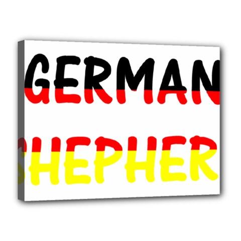 German Shepherd Name In Flag Canvas 16  x 12