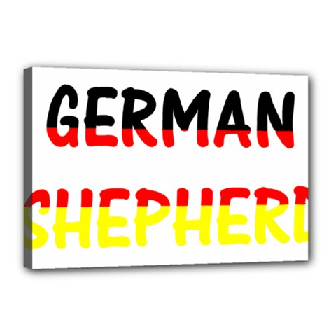 German Shepherd Name In Flag Canvas 18  x 12