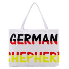 German Shepherd Name In Flag Medium Zipper Tote Bag