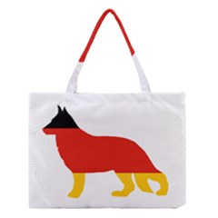 German Shepherd Flag Silo Germany Flag Medium Tote Bag