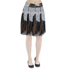 2 German Shepherds Pleated Skirt