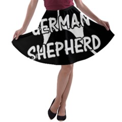 German Shepherd Paw Name A-line Skater Skirt