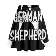 German Shepherd Paw Name High Waist Skirt