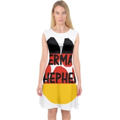 German Shepherd Name Paw Germany Flag Paw Capsleeve Midi Dress