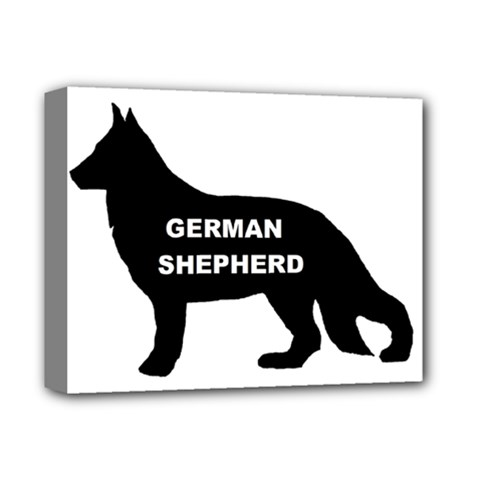 German Shepherd Name Silo Deluxe Canvas 14  x 11