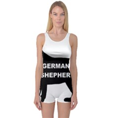 German Shepherd Name Silo One Piece Boyleg Swimsuit