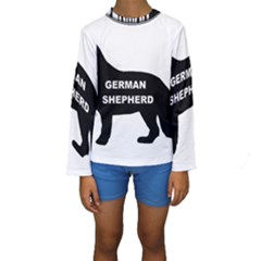 German Shepherd Name Silo Kids  Long Sleeve Swimwear