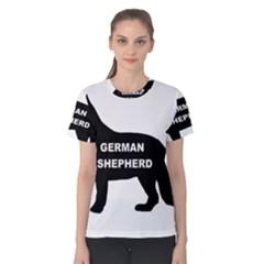 German Shepherd Name Silo Women s Cotton Tee