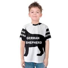 German Shepherd Name Silo Kids  Cotton Tee