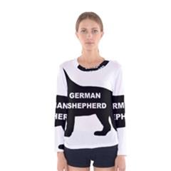 German Shepherd Name Silo Women s Long Sleeve Tee