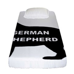 German Shepherd Name Silo Fitted Sheet (Single Size)