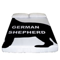 German Shepherd Name Silo Fitted Sheet (Queen Size)