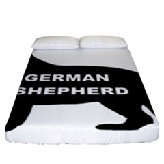 German Shepherd Name Silo Fitted Sheet (King Size)