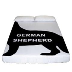German Shepherd Name Silo Fitted Sheet (California King Size)