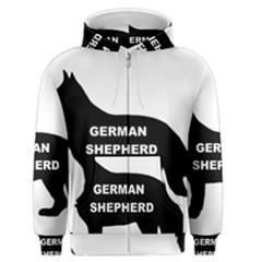 German Shepherd Name Silo Men s Zipper Hoodie