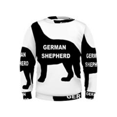 German Shepherd Name Silo Kids  Sweatshirt