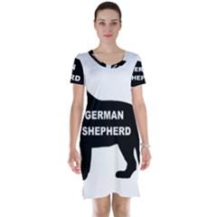 German Shepherd Name Silo Short Sleeve Nightdress