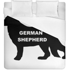German Shepherd Name Silo Duvet Cover (King Size)