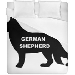 German Shepherd Name Silo Duvet Cover (California King Size)