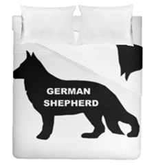 German Shepherd Name Silo Duvet Cover Double Side (Queen Size)