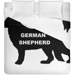 German Shepherd Name Silo Duvet Cover Double Side (King Size)