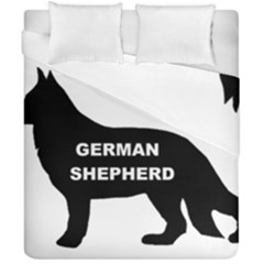 German Shepherd Name Silo Duvet Cover Double Side (California King Size)