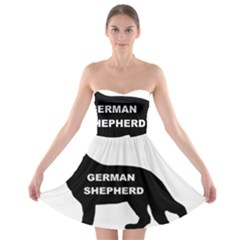 German Shepherd Name Silo Strapless Bra Top Dress