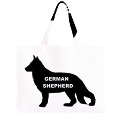 German Shepherd Name Silo Large Tote Bag